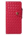 (Red) Weave Design Wallet Case for Gala
