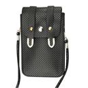 Vertical Braid Design Crossbody Bag