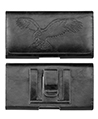 Universal Horizontal Leather Pouch with Embossed