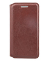 Leather Wallet Carrying Case for HTC One A9 (Brow