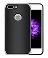 (Silver) Stripped TPU Skin Case for Apple iPhone®