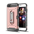 Pink Hybrid Case with Card Slot And Stand for i