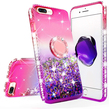 Pink Liquid Glitter WaterFall Case with Ring Hol