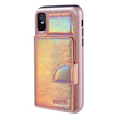 Holographic Hybrid Wallet Case for iPhone X