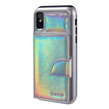 Holographic Hybrid Wallet Case for iPhone X (Si