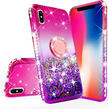 Pink Liquid Glitter WaterFall Case with Ring Ho