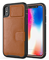 Kona Cellphone Wallet Case for iPhone X, XS, Br