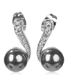 Curl Crystal Stick, Small Grey Pearl (Silver)