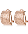 Pave Curl Earrings (Rose Gold)