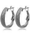 Metallic Hoop Earrings(Silver)