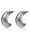 Metallic Hammertone Earrings (Silver)