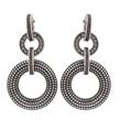 Vintage Silver Circle Hoop Stud Earrings