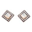 Square Opal Diamond Pave Studs