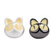 Black and Silver Cat Design Studs