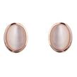 Rose Gold Oval Opal Studs