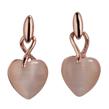 Love Wrapped Heart Shaped Opal Dangle Studs