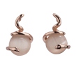 Spiral Wrapped Oval Opal Dangle Studs