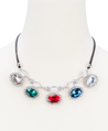 Round Jewel Necklace (Colorful)