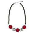 Red Bead Diamante Signature Necklace