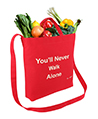 Canvas Transport Totebag, You never walk alone,