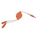 (Orange) Retractable Headphone Spl