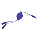 (Blue) Retractable Headphone Split