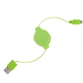 Micro USB retractable Charge and Sync cable (Gree