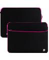 (Black/Pink) Neoprene 17 Laptop Ca