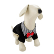 Black And White Stripes Dog Suit