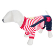 Red Stripes Overall Dog Suit
