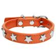 (Small) Dog Collar (Orange Star)