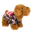 Black Floral Pink Bow Dog Dress