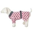 Black Polka Dot Pink Heart Dog Dress