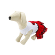 White With Red Heart Tutu Dog Dress