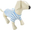 Blue White Stripe Dog Shirt