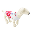(Large) Red White Stripe Sailor Dog Sweater