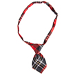 Dog Neck Tie (Red/Black Plaid)