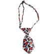 Dog Neck Tie (Red/White Leopard)