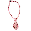 Dog Neck Tie (Pink Hearts)