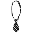 Dog Neck Tie (Black/White Dot)