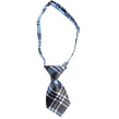 Plaid Small Dog Neck Tie (Blue)