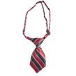 Striped Dog Neck Tie (Burgundy Stripe)