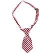 Stripe Dog Neck Tie (Red/White)