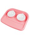 Pet Feeder Express Bowl with Mess Proof, Pink