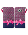 (Cheetah Bow) Design Wallet Case for Samsung® Gal