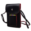 Leather Smartphone Shoulder Pouch (Black)