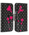 Poke Dot Pink Heart Design Wallet Case