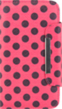 Pink Black Polka Dot Wallet Pouch for Samsung® G