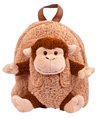 Monkey Plush Doll Removable Animal Backpack for