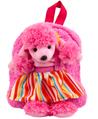 Poodle Plush Doll Removable Animal Backpack for